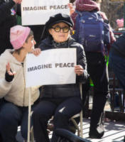 Yoko Ono - New York - 20-01-2018 - Time's Up: dal tappeto rosso alle strade d'America