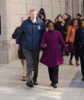 Mayor Bill de Blasio, Chirlane McCray - New York - 20-01-2018 - Time's Up: dal tappeto rosso alle strade d'America