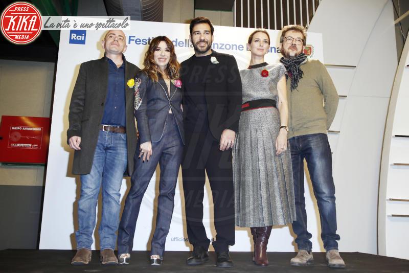 Rocco Tanica, Rolando Ravello, Carolina Di Domenico, Edoardo Leo, Sabrina Impacciatore - Sanremo - 05-02-2018 - Sanremo 2018: la squadra del dopofestival