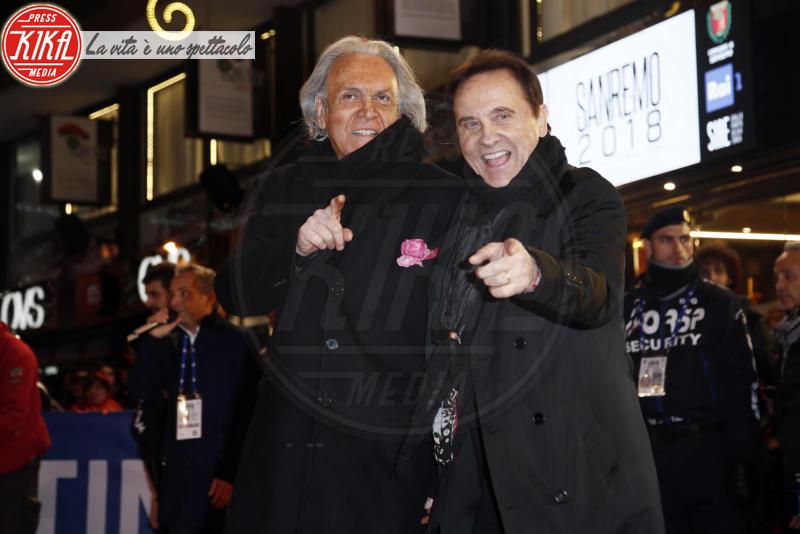 Roby Facchinetti, Riccardo Fogli - Sanremo - 05-02-2018 - Festival di Sanremo: i concorrenti sfilano sul red carpet