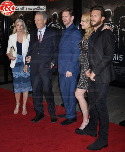 Stacy Poitras, Christina Sandera, Scott Eastwood, Clint Eastwood, Alison Eastwood - Burbank - 05-02-2018 - The 15:17 to Paris: l'attentato del 2015 arriva al cinema