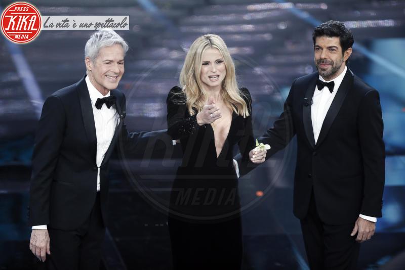 Pierfrancesco Favino, Michelle Hunziker, Claudio Baglioni - Sanremo - 06-02-2018 - Sanremo, la dichiarazione d'amore della Hunziker a Trussardi