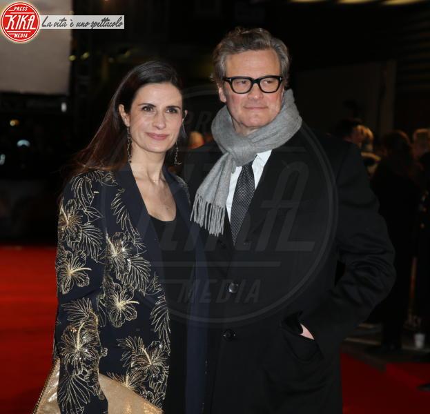 Livia Firth, Livia Giuggioli, Colin Firth - Londra - 06-02-2018 - Il Mistero di Donald C, Colin Firth con la sua Livia Giuggioli