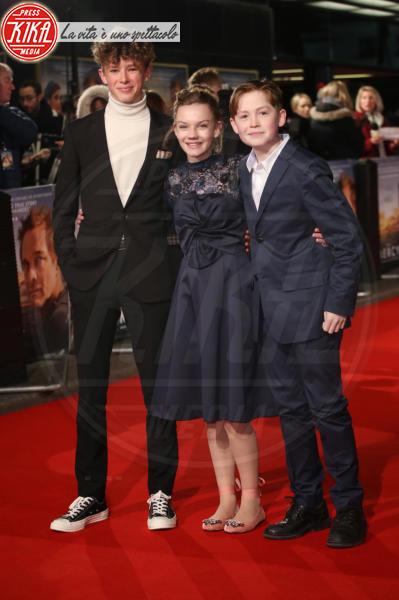 Kit Connor, Eleanor Stagg, Finn Elliot - Londra - 06-02-2018 - Il Mistero di Donald C, Colin Firth con la sua Livia Giuggioli