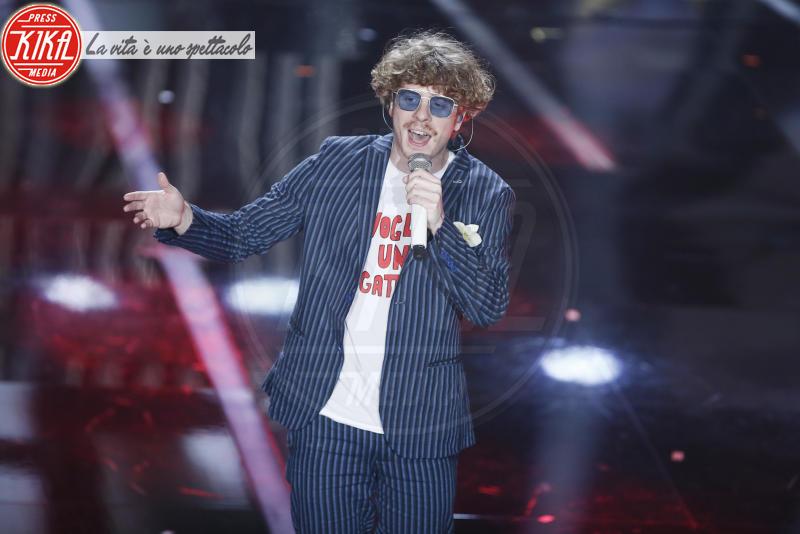 Alberto Cazzola, Lo Stato Sociale - Sanremo - 06-02-2018 - Sanremo, la dichiarazione d'amore della Hunziker a Trussardi