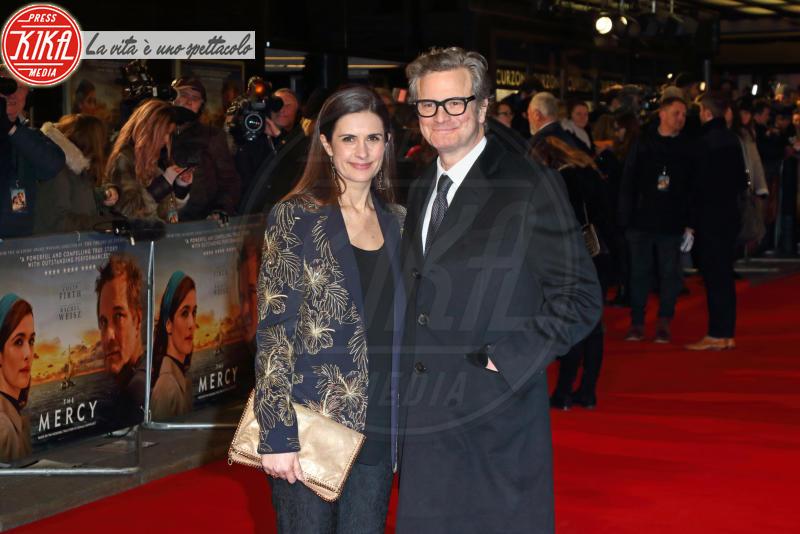 Livia Giuggioli, Colin Firth - Londra - 06-02-2018 - Il Mistero di Donald C, Colin Firth con la sua Livia Giuggioli