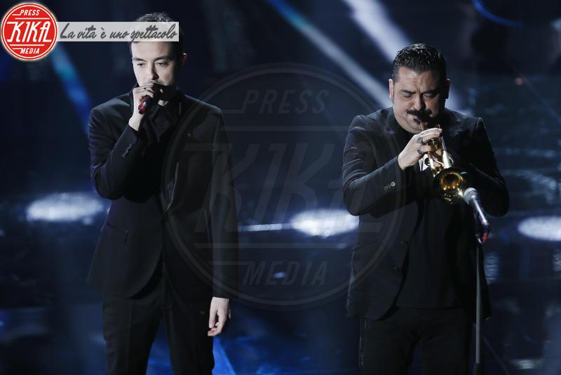 Diodato, Roy Paci - Sanremo - 07-02-2018 - Sanremo 2018, Michelle Hunziker splende in Alberta Ferretti