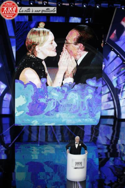 Pippo Baudo - Sanremo - 07-02-2018 - Sanremo 2018, Michelle Hunziker splende in Alberta Ferretti