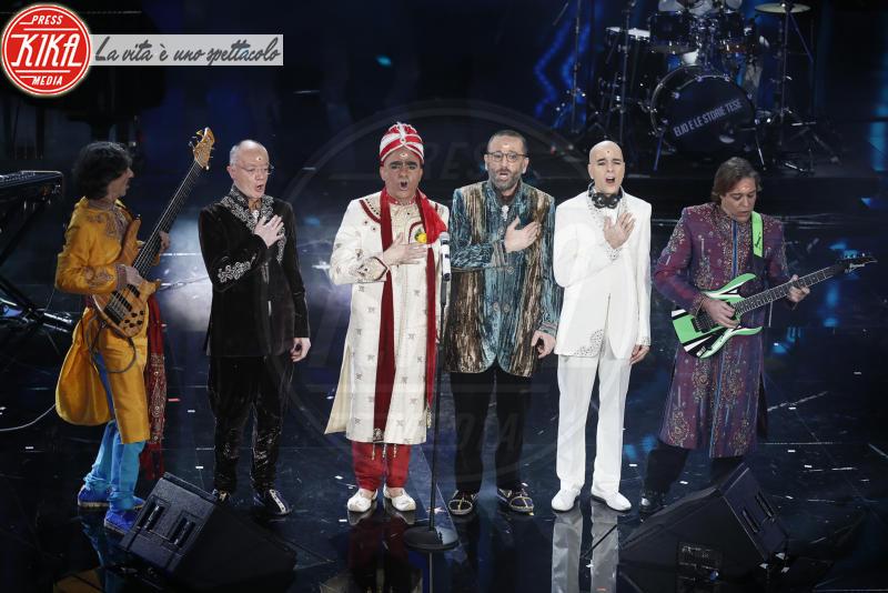 Elio e le Storie tese, Claudio Baglioni - Sanremo - 07-02-2018 - Sanremo 2018, Michelle Hunziker splende in Alberta Ferretti