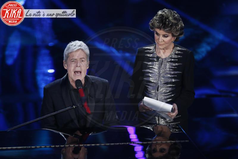 Franca Leosini, Claudio Baglioni - Sanremo - 07-02-2018 - Sanremo 2018, Michelle Hunziker splende in Alberta Ferretti