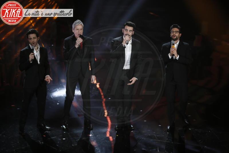 Il volo, Claudio Baglioni - Sanremo - 08-02-2018 - Sanremo 2018, Michelle Hunziker splende in Alberta Ferretti