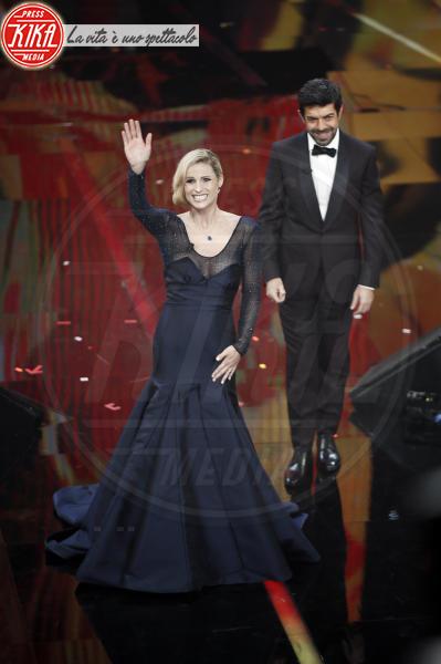 Pierfrancesco Favino, Michelle Hunziker - Sanremo - 08-02-2018 - Sanremo 2018: l'ironia dei conduttori sul caso plagio