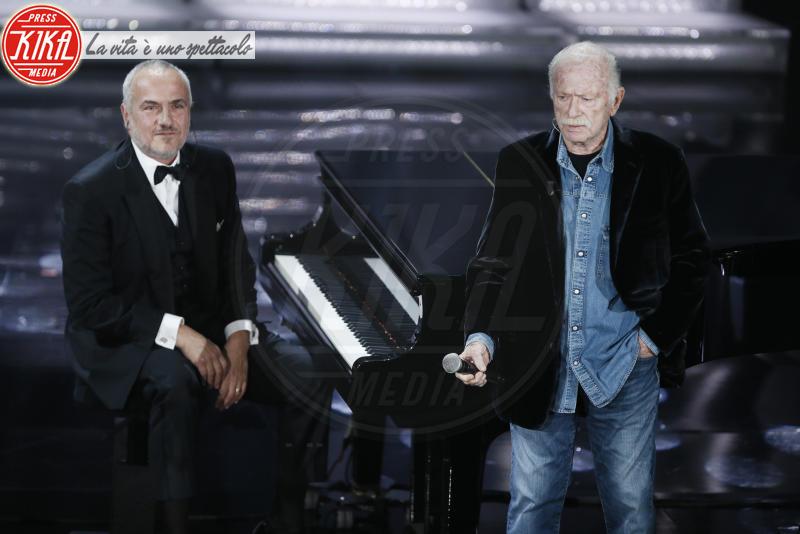Danilo Rea, Gino Paoli - Sanremo - 09-02-2018 - Sanremo 2018: l'ironia dei conduttori sul caso plagio