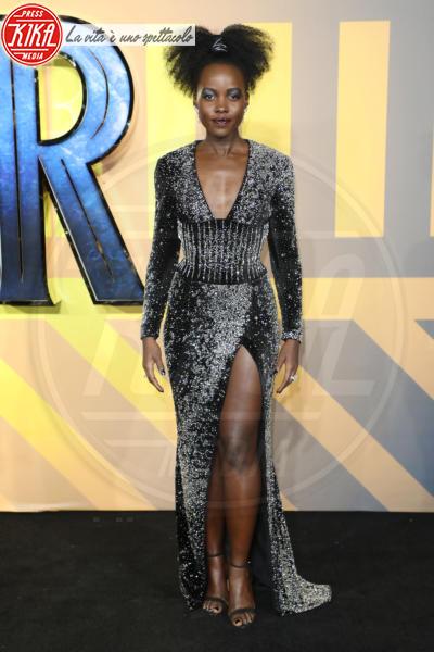 Lupita Nyong&#39, o - Londra - 08-02-2018 - Roshelle, da X-Factor 10 alla prima di Black Panther senza veli