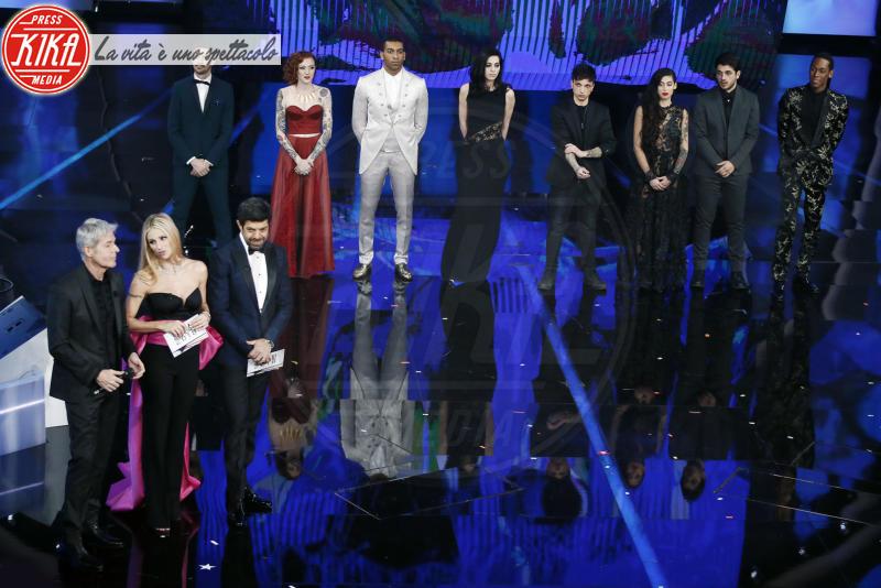 Ultimo, Michelle Hunziker, Claudio Baglioni - Sanremo - 09-02-2018 - Sanremo 2018, nuove proposte: vince Ultimo