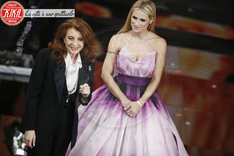 Martina Corgnati, Michelle Hunziker - Sanremo - 10-02-2018 - Sanremo 2018, nuove proposte: vince Ultimo