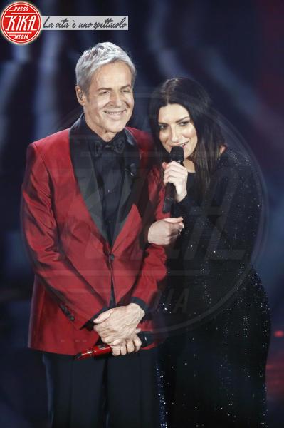 Claudio Baglioni, Laura Pausini - Sanremo - 10-02-2018 - Sanremo, Pausini show e Favino commuove con monologo su migranti