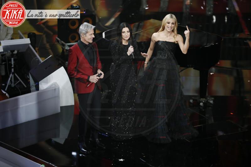 Michelle Hunziker, Claudio Baglioni, Laura Pausini - Sanremo - 10-02-2018 - Sanremo, Pausini show e Favino commuove con monologo su migranti