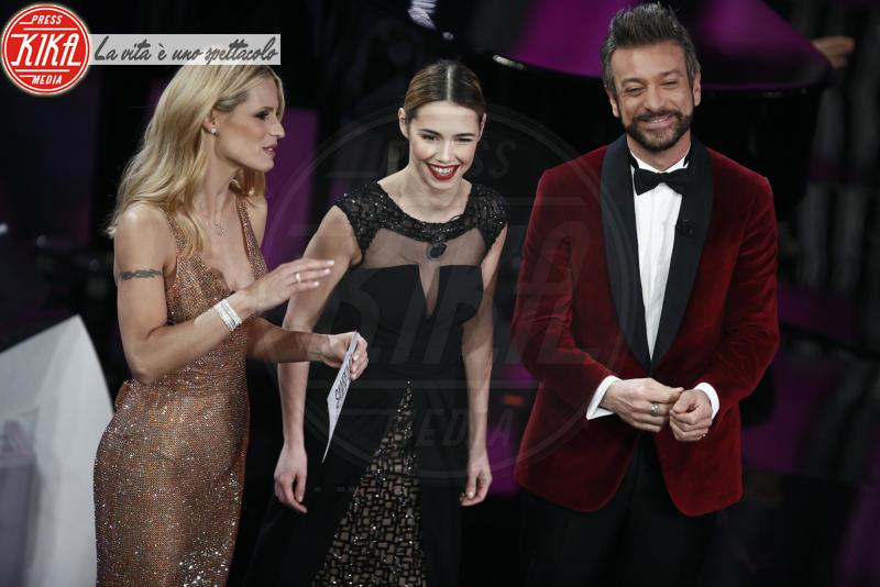 Greta Marchetto, Sergio Assisi, Michelle Hunziker - Sanremo - 10-02-2018 - Sanremo, Pausini show e Favino commuove con monologo su migranti