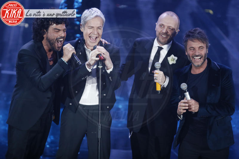 Nek, Francesco Renga, Max Pezzali, Claudio Baglioni - Sanremo - 11-02-2018 - Festival di Sanremo: arriva l'ospite inatteso dell'anno