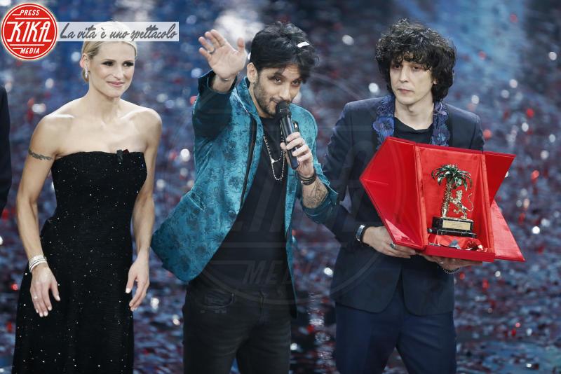 Ermal Meta, Fabrizio Moro, Michelle Hunziker - Sanremo - 11-02-2018 - Ermal Meta e Fabrizio Moro vincono il Festival di Sanremo
