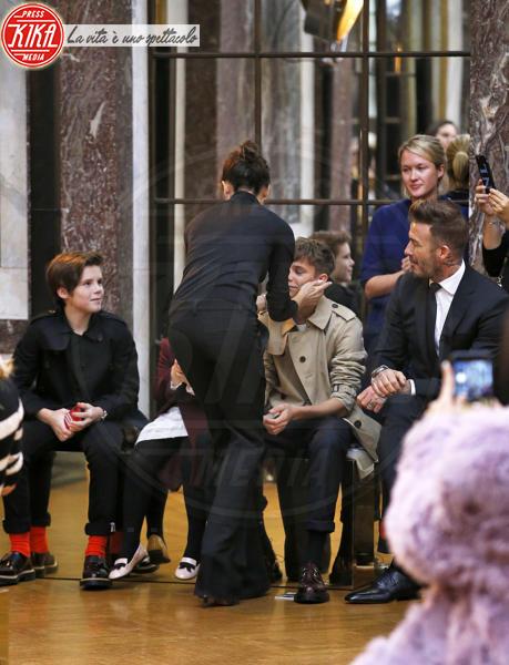 Cruz Beckham, Romeo Beckham, David Beckham, Victoria Beckham - New York - 11-02-2018 - NYFW: a fare il tifo per Victoria c'è tutta la famiglia Beckham