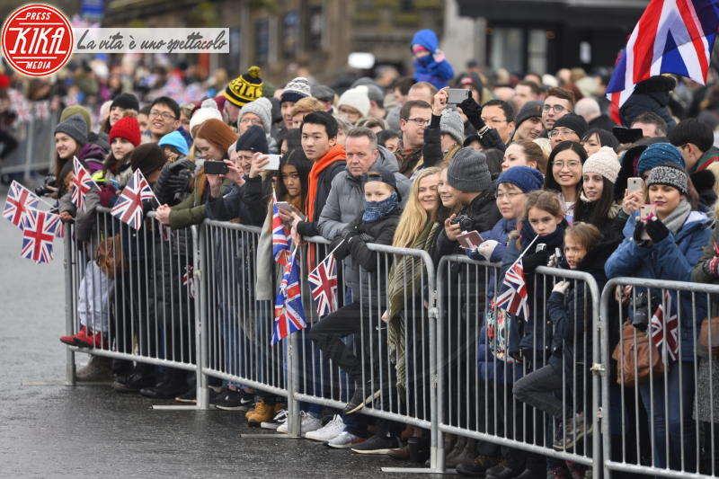 Atmosphere - Edimburgo - 13-02-2018 - Harry & Meghan: a Edimburgo li accoglie... un pony!