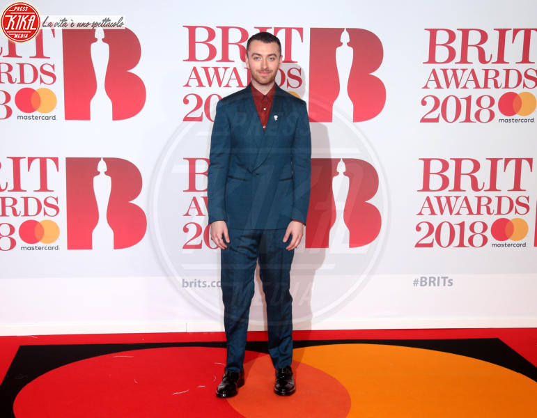 Sam Smith - Londra - 21-02-2018 - Brits 2018: Dua Lipa e le altre, una rosa bianca per Time's Up