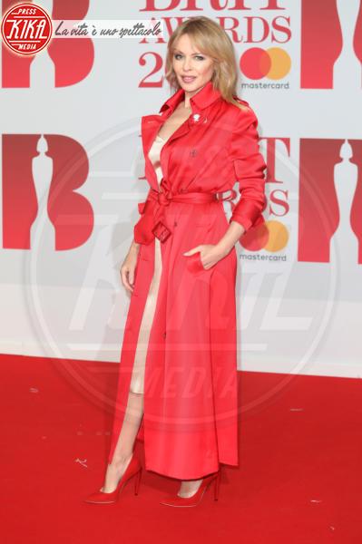 Kylie Minogue - Londra - 21-02-2018 - Brits 2018: Dua Lipa e le altre, una rosa bianca per Time's Up