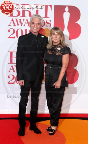 Stephanie Lowe, Phillip Schofield - Londra - 21-02-2018 - Brits 2018: Dua Lipa e le altre, una rosa bianca per Time's Up