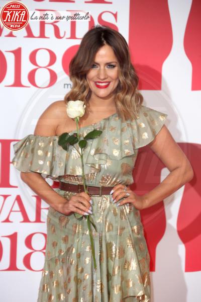 Caroline Flack - Londra - 21-02-2018 - Brits 2018: Dua Lipa e le altre, una rosa bianca per Time's Up