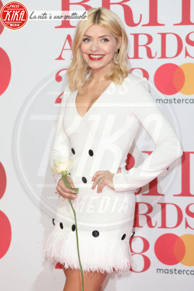 Holly Willoughby - Londra - 21-02-2018 - Brits 2018: Dua Lipa e le altre, una rosa bianca per Time's Up