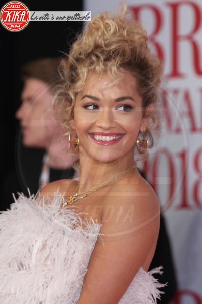 Rita Ora - Londra - 21-02-2018 - Brits 2018: Dua Lipa e le altre, una rosa bianca per Time's Up