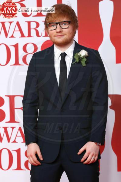 Ed Sheeran - Londra - 21-02-2018 - Brits 2018: Dua Lipa e le altre, una rosa bianca per Time's Up