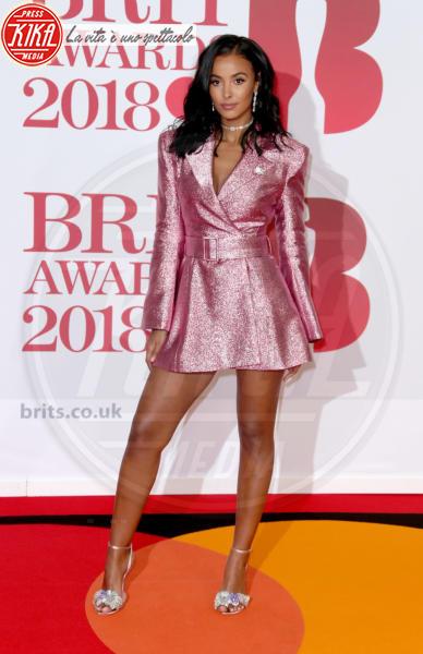 Maya Jama - Londra - 21-02-2018 - Brits 2018: Dua Lipa e le altre, una rosa bianca per Time's Up