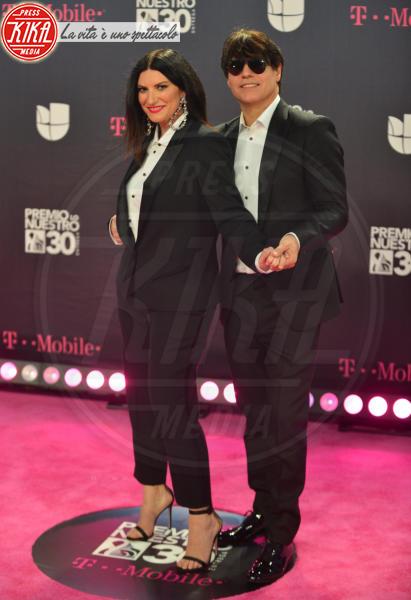 Paolo Carta, Laura Pausini - Miami - 22-02-2018 - Laura Pausini ha l'X-Factor anche in Spagna