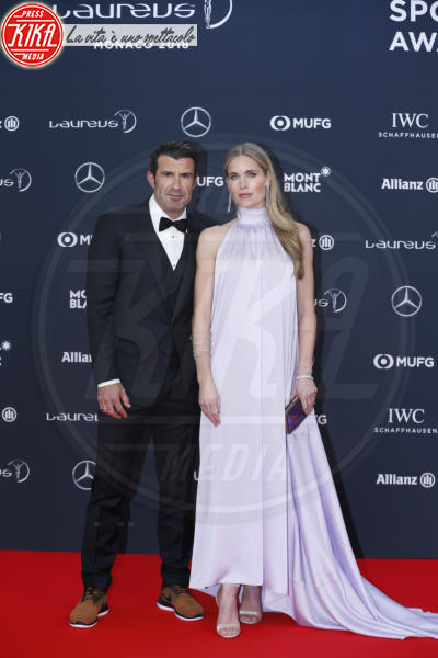 Luis Figo, Helen Svedin - Monte Carlo - 27-02-2018 - Laureus Awards 2018: brillano Francesco Totti e Ilary Blasi