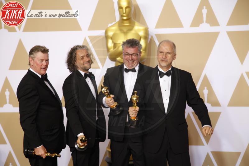 Gerd Nefzer, Richard R. Hoover, Paul Lambert, John Nelson - Hollywood - 04-03-2018 - Oscar 2018, ai 90esimi Academy regna l'equilibrio