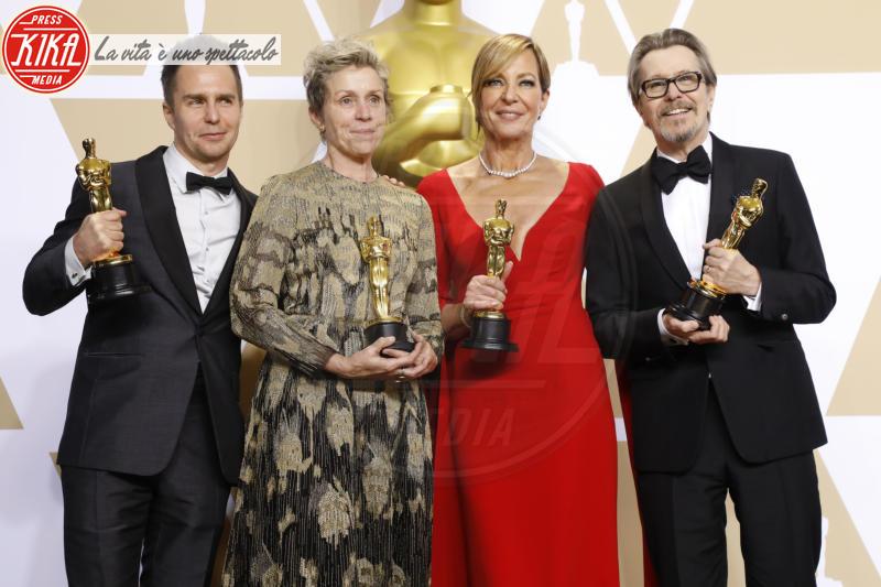 Frances Mcdormand, Sam Rockwell, Gary Oldman, Allison Janney - Los Angeles - 04-03-2018 - Oscar, rubata e ritrovata la statuetta di Frances McDormand