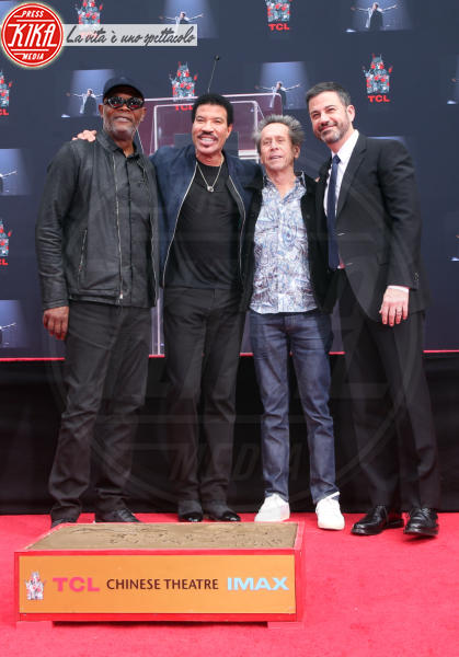 Lionel Richie, Brian Grazer, Jimmy Kimmel, Samuel L. Jackson - Hollywood - 07-03-2018 - Lionel Richie affonda le mani nella leggenda