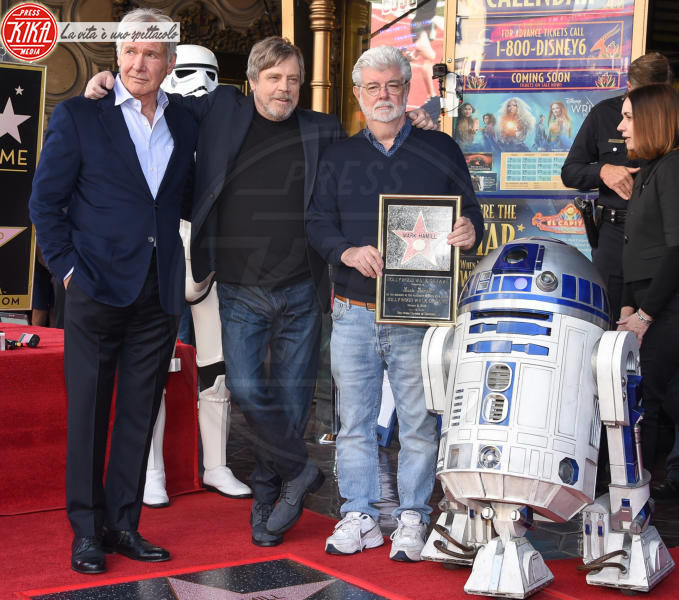 George Lucas, Mark Hamill, Harrison Ford - Hollywood - 08-03-2018 - Mark Hamill, la stella di Skywalker brilla sulla Walk of Fame