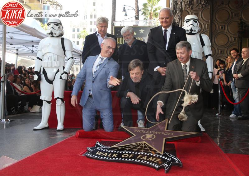 Leron Gubler, George Lucas, Mark Hamill, Harrison Ford - Hollywood - 08-03-2018 - Mark Hamill, la stella di Skywalker brilla sulla Walk of Fame