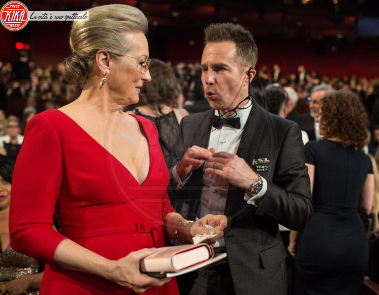 Sam Rockwell, Meryl Streep - Hollywood - 05-03-2018 - Oscar 2018: Frances McDormand salva una cerimonia blanda