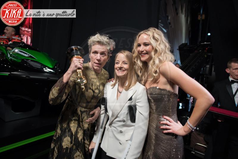 Jennifer Lawrence, Frances Mcdormand, Jodie Foster - Hollywood - 05-03-2018 - Oscar 2018: Frances McDormand salva una cerimonia blanda