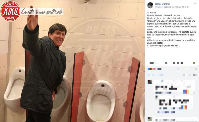 Gianni Morandi - 12-03-2018 - La foto che ha fatto perdere la pazienza a Gianni Morandi
