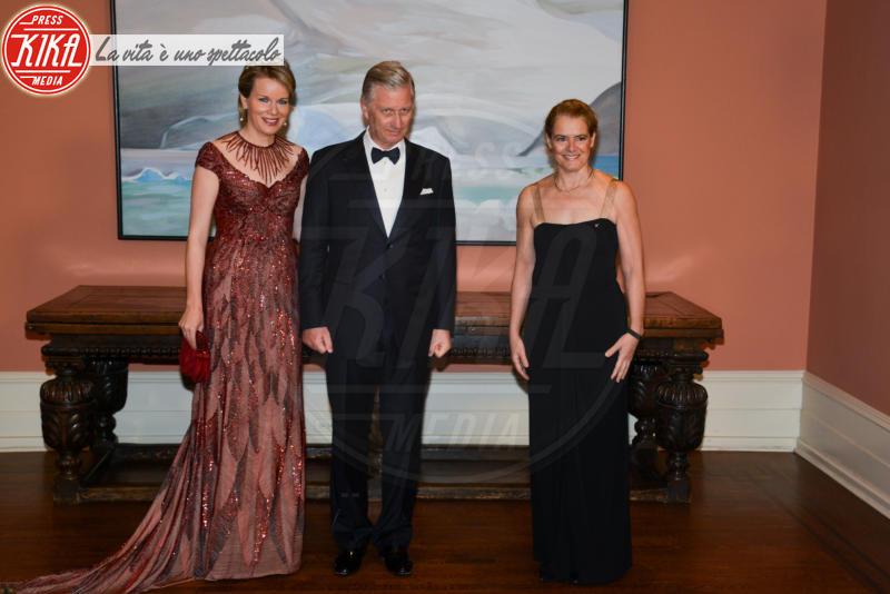 Julie Payette, Re Filippo del Belgio, Regina Mathilde del Belgio - Ottawa - 13-03-2018 - Mathilde del Belgio: casual o galà, sempre regina di stile