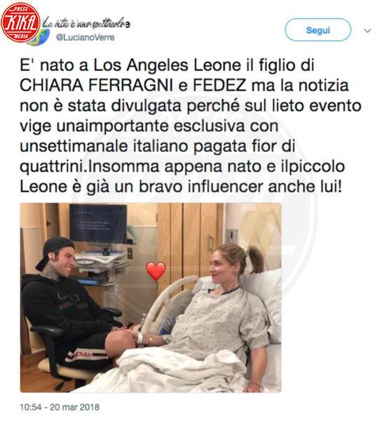 Fedez, Chiara Ferragni - 20-03-2018 - Chiara Ferragni è mamma: è nato Leone!