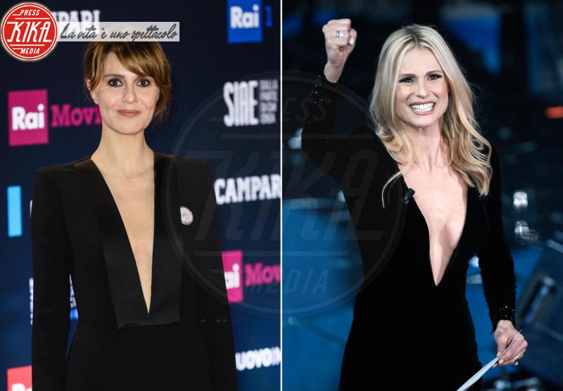 Michelle Hunziker, Paola Cortellesi - 22-03-2018 - David di Donatello: Cortellesi/Hunziker, chi lo indossa meglio?