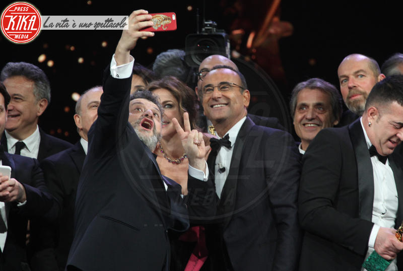 selfie, Carlo Conti - Roma - 22-03-2018 - David, il monologo di Paola Cortellesi a nome di tutte le donne