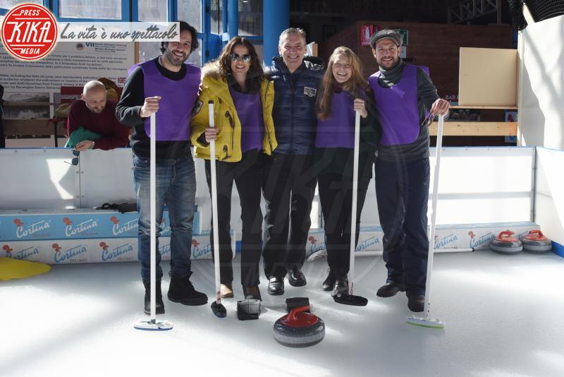 Matteo Branciamore, Irene Ferri - Cortina - 23-03-2018 - Lezioni di curling per gli attori di Cortinametraggio